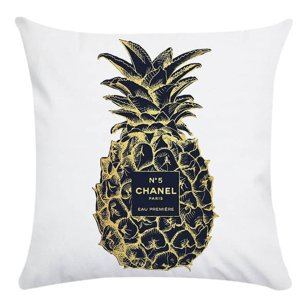 Pineapple Chanel Pillow Case