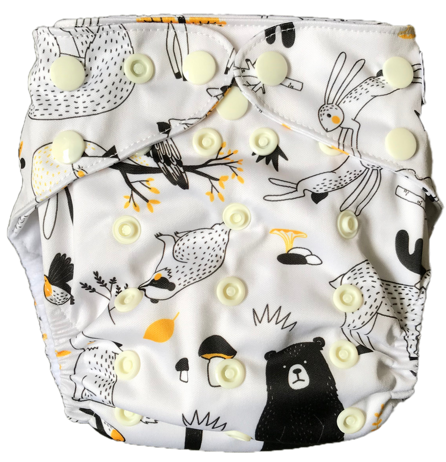 animal print cloth nappy nz