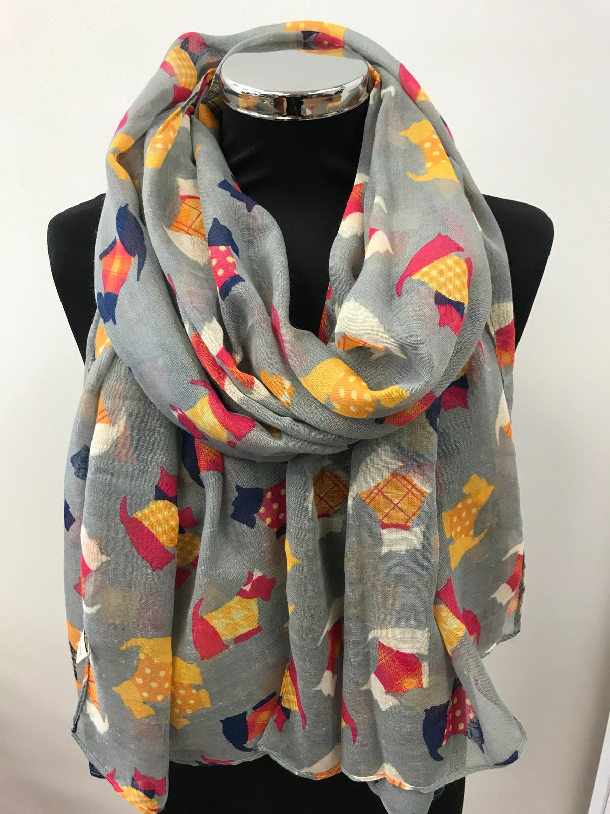 Scottish Terrier Print Ladies Scarf