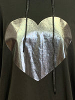 Foil Heart One Size Hoodie