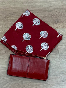 Red Tree of Life Scarf & Bracelet Purse Gift Set