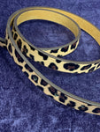 Leopard Print Leather 16mm Belt