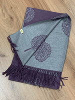 Mulberry Tree Of Life Cashmere Wrap Scarves