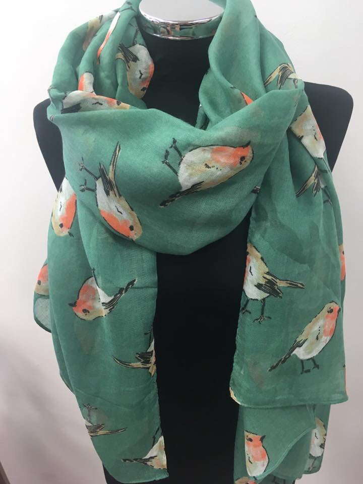 Robin Print Ladies Scarf