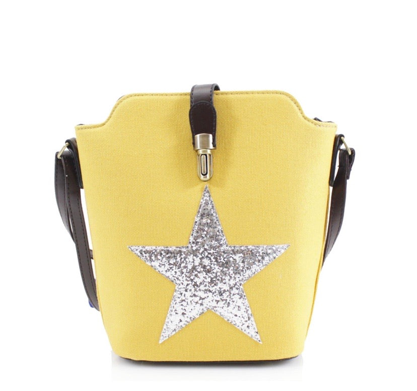 Yellow Small Crossbody Star Bag