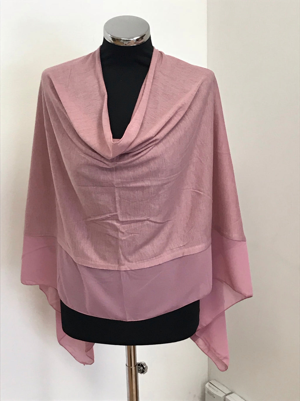 Summer Pink Lightweight Wool Blend Poncho