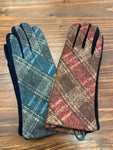 Soft Tartan Check Gloves