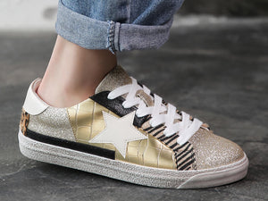 Golden Glitter Star Deluxe Sparkle Trainers