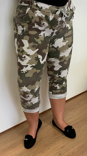 Camouflage Stretchy Magic Trousers (10-18)