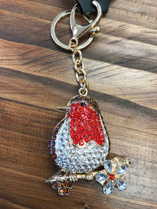 Robin Diamanté Style Key Ring