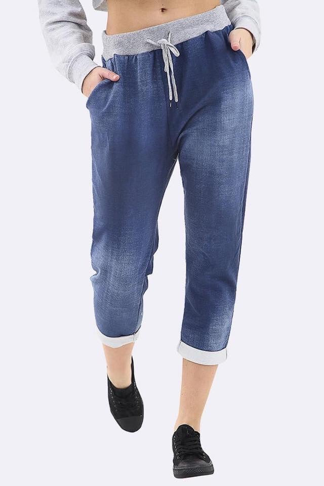 Denim Lounge Jean Joggers - One Size 10/14-16