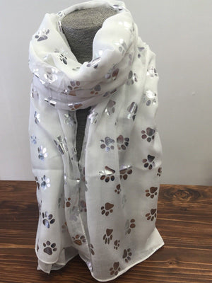 Paw Print Ladies Scarf