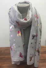 Rainbow Unicorn Ladies Scarf