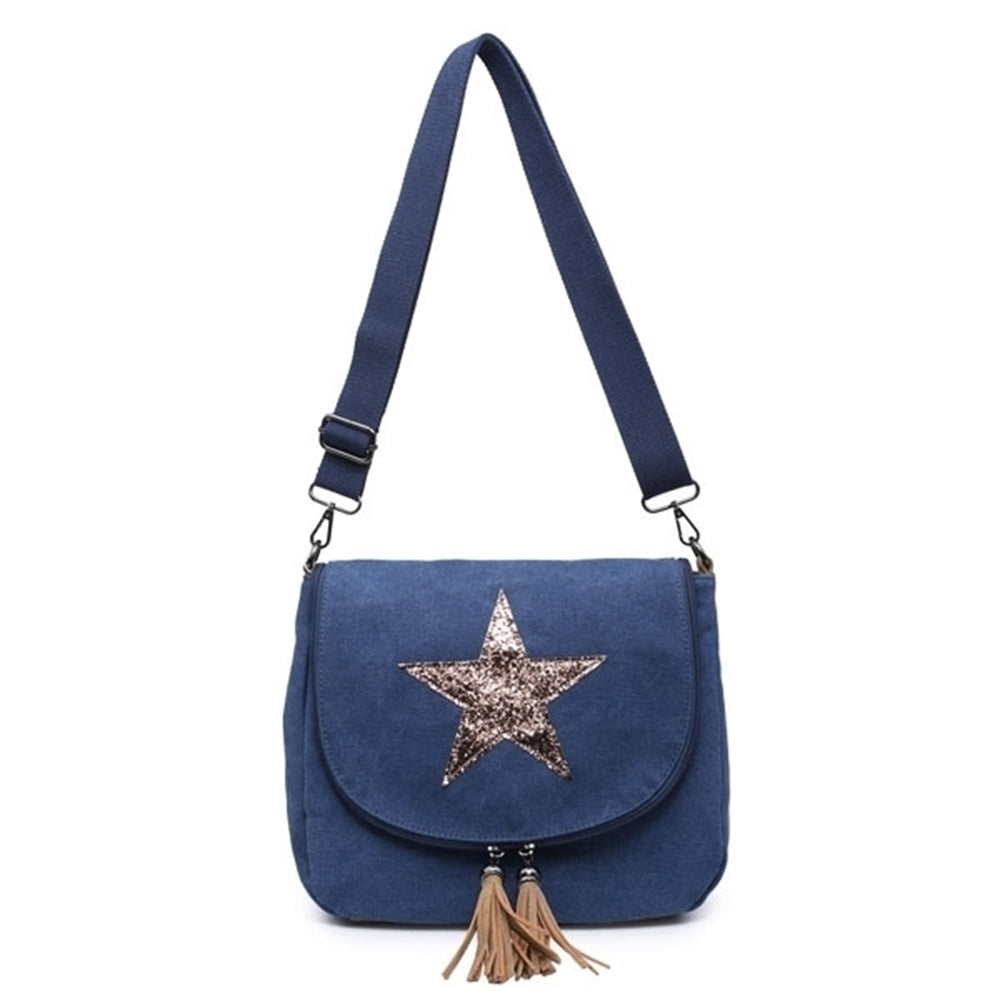 Star Bag with Sequin Star and Tassels