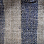Large Striped Indigo Hmong Hemp - Fabric