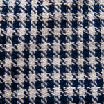 Houndstooth Indigo & White Cotton - Fabric