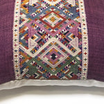 KWAN Diamond Naga Silk Hemp Decorative Pillow