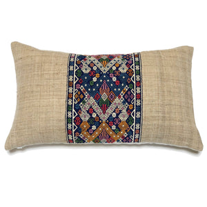 KWAN Twin Naga Silk Hemp Lumbar Pillow