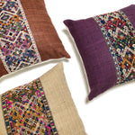 KWAN Rustic Naga Silk Hemp Lumbar Pillow