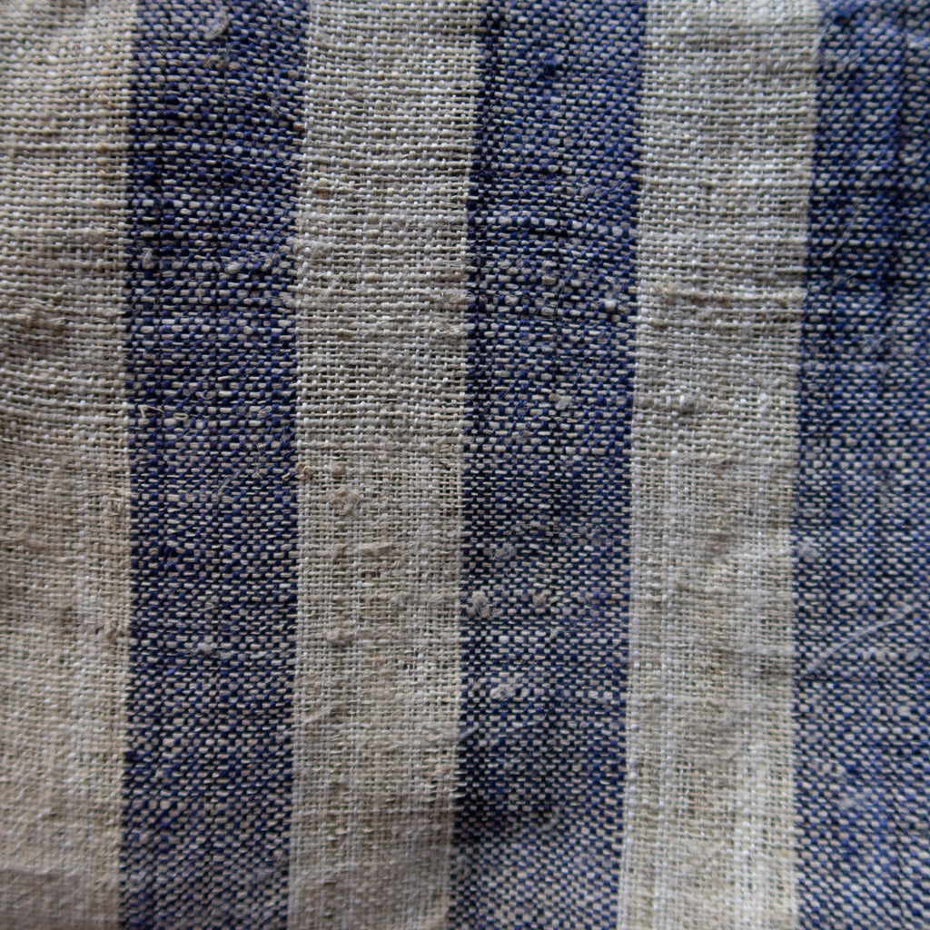 Small Striped Indigo Hmong Hemp - Fabric