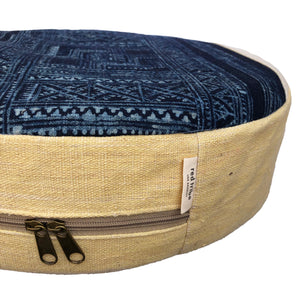 Hmong Indigo Batik Meditation Pillow