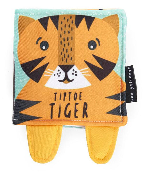 Soft book tip toe tiger Wee Gallery