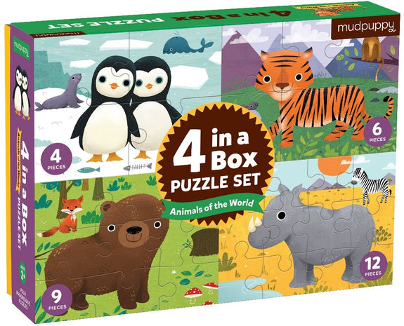 4 in a box animals of the world puzzels Crocodile Creek