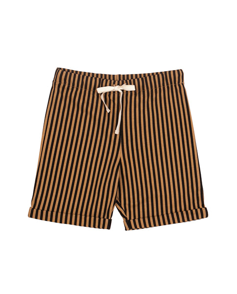 Camel & Black stripes short SayPlease