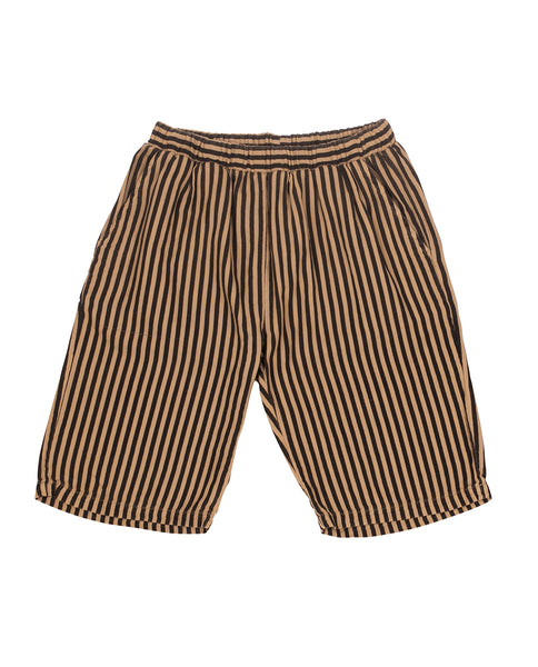 Camel & black stripes trousers (bermuda) SayPlease