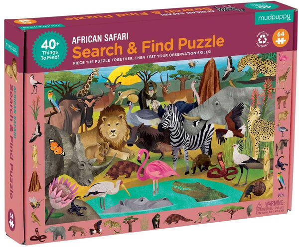 Search and find puzzel African Safari Mudpuppy