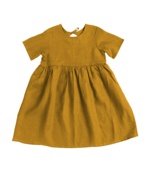 Ayla dress mustard Hudson and the Hare