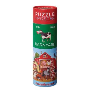 Puzzle and poster Barnyard Crocodile Creek