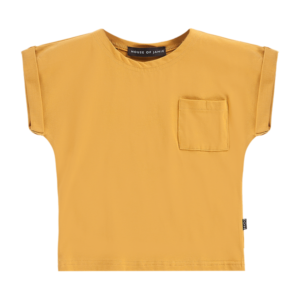 Batwing tee honey mustard House of Jamie