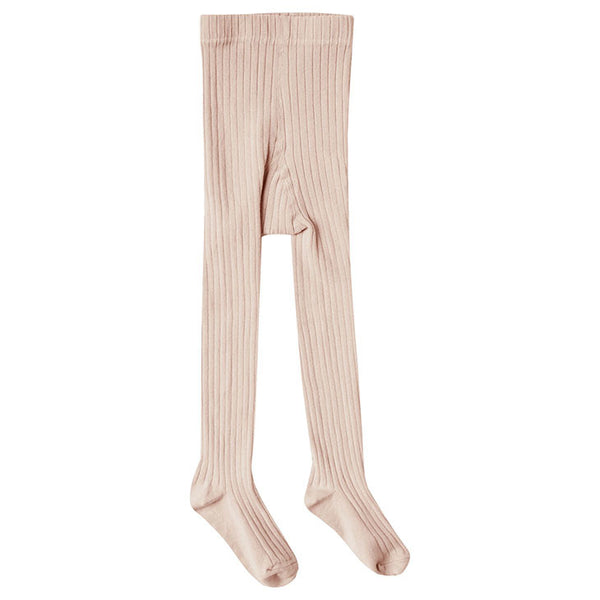 Blush ribbed tights Rylee & Cru