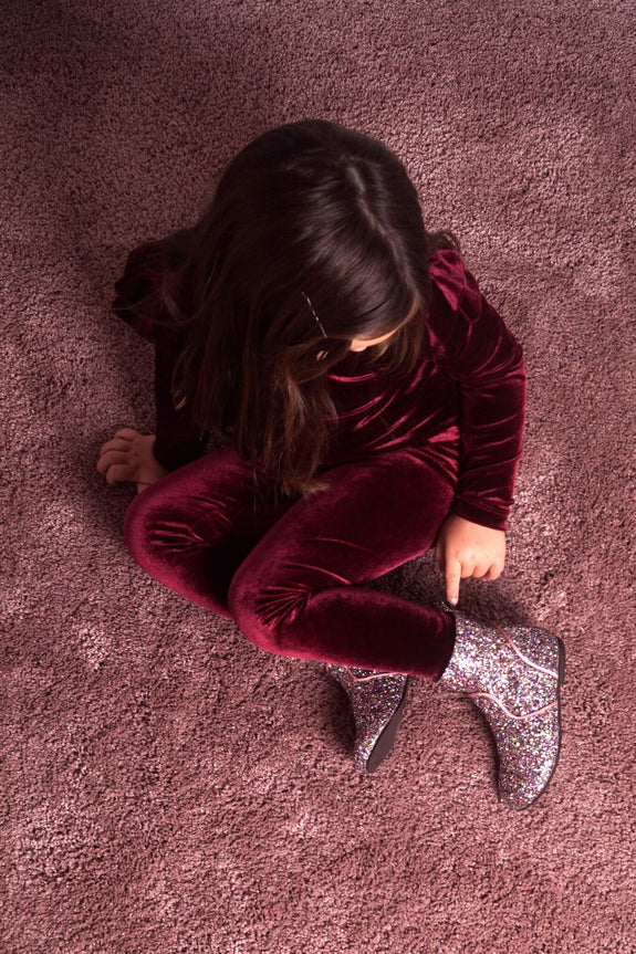 Dusty plum velvet legging Knast by Krutter