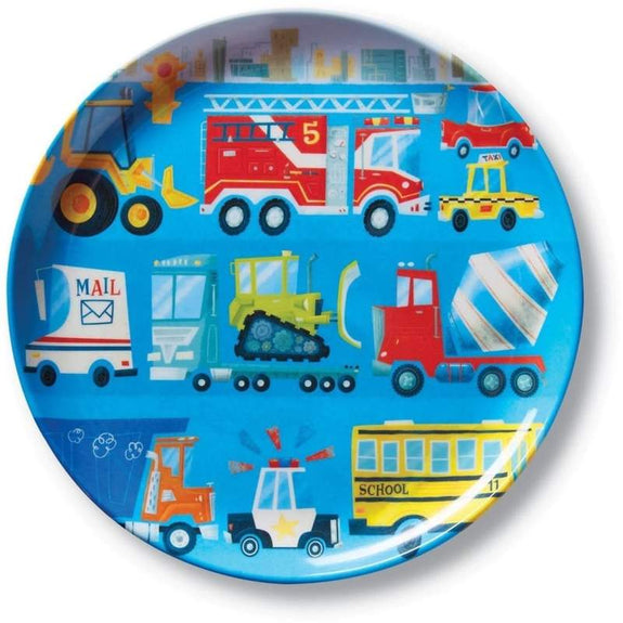 Melamine bordje busy vehicles Crocodile Creek