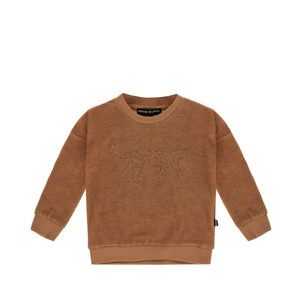 Crewneck sweatshirt toffee leopard House of Jamie