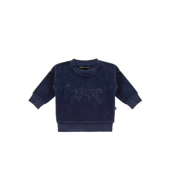 Crewneck midnight velvet leo House of Jamie