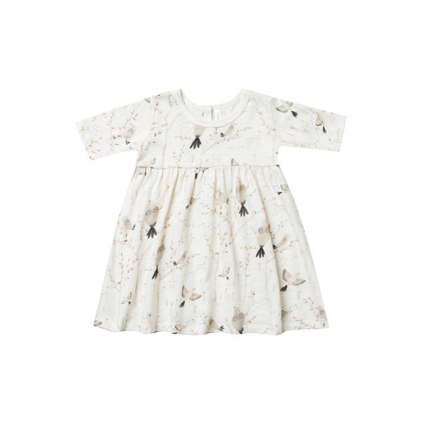 Winter birds finn dress Rylee & Cru