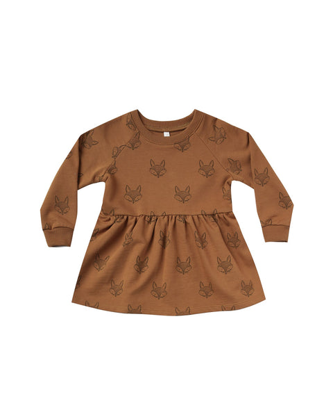 Fox raglan dress Rylee & Cru