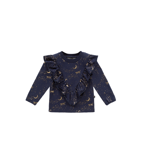 Front ruffled sweater stargazer House of Jamie