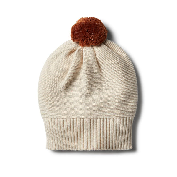 Oatmeal knitted hat Wilson & Frenchy
