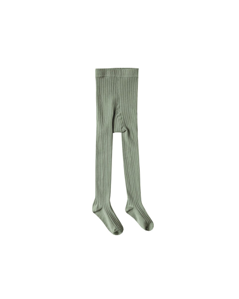 Olive ribbed tights Rylee & Cru