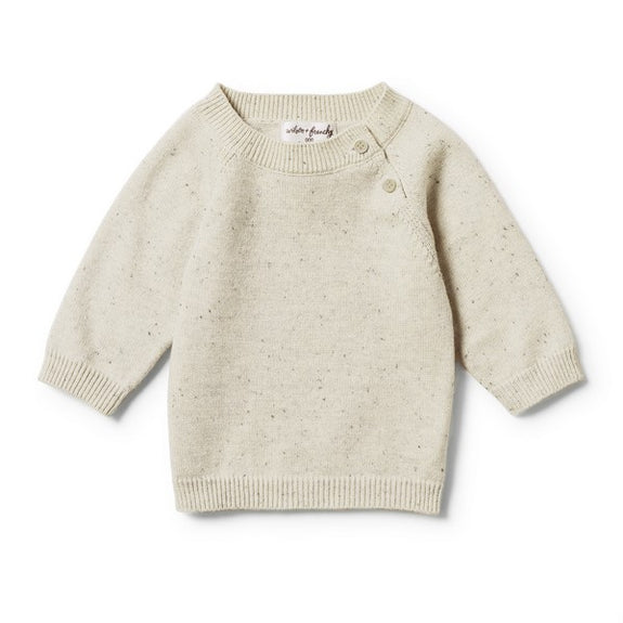 Olive speckle knitted jumper Wilson & Frenchy