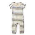 Organic deep blue stripe growsuit Wilson & Frenchy