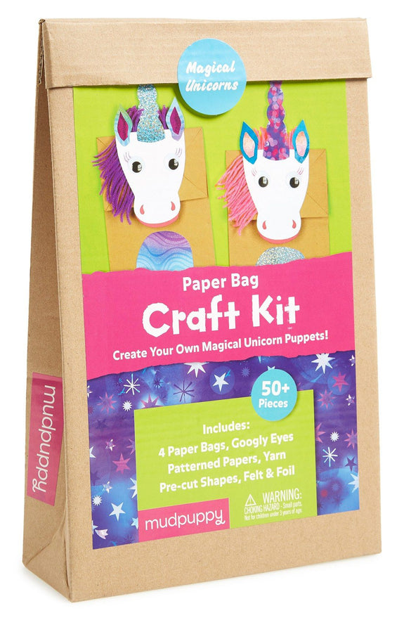 Paperbag craft set unicorn Mudpuppy
