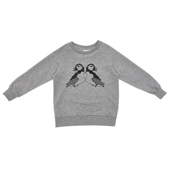 Grey puffin sweatshirt Iglo + Indi