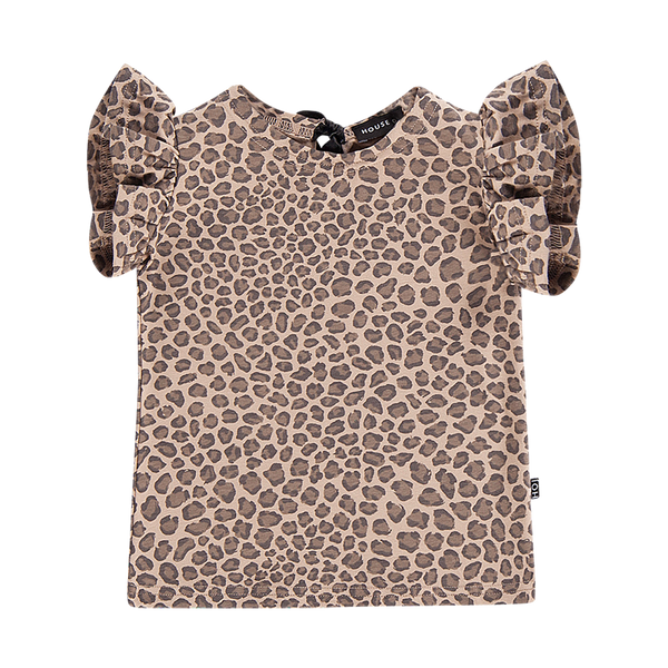 Ruffled leopard tee House of Jamie