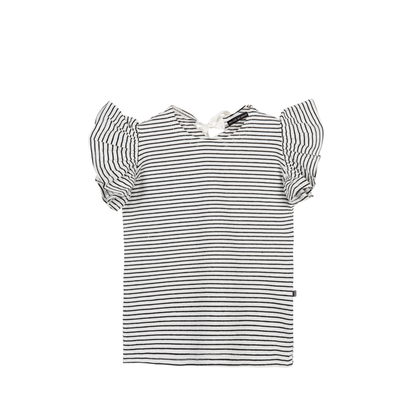 Ruffled tee little stripes House of Jamie