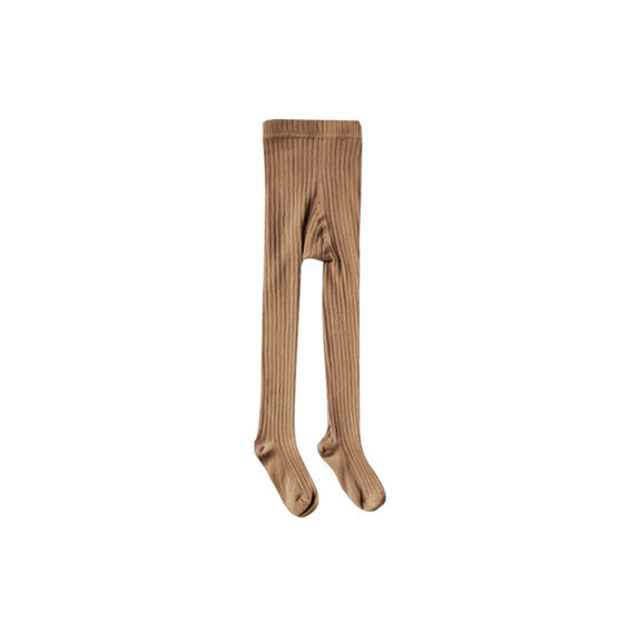 Solid ribbed tights caramel Rylee & Cru